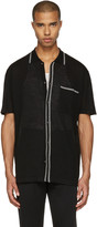 Lanvin Black Wool Stripe Polo