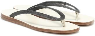 Brunello Cucinelli Embellished thong sandals