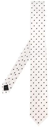 Dolce & Gabbana Polka Dot Embroidered Tie