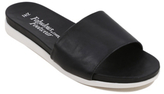 George Faux Leather Pool Sliders