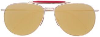 Thom Browne Aviator Mirrored Sunglasses