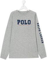 Ralph Lauren branded long-sleeved sweatshirt - kids - Cotton - 14 yrs