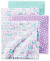 Carter's 4-Pack Owl Cotton Flannel Receiving Blankets