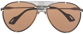 Gucci GG0740S aviator-frame sunglasses