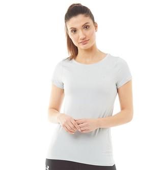 Under Armour Womens HG HeatGear Armour Short Sleeve Top Atlas Green/Metallic Silver
