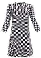 Pinko Women's White/black Acrylic Dress.