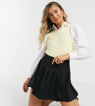 Daisy Street mini pleated tennis skirt