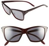 Oakley Women's 'Hold On' 58Mm Sunglasses - Black/ Chrome Iridium