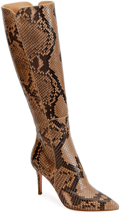 e97f69f3ae4 Python Pointed-Toe Tall Boots