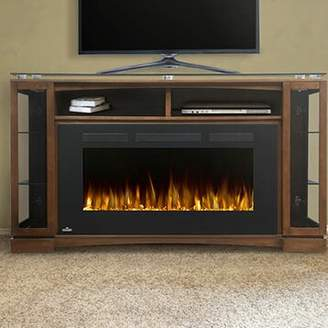 Napoleon Shelton TV Stand for TVs up to 65 inches with Electric Fireplace Included Napoleon