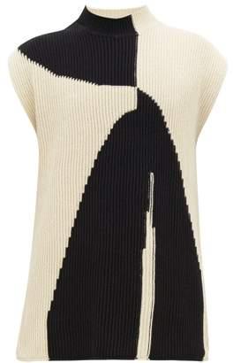 Jil Sander Abstract-jacquard Sleeveless Cotton Sweater - Mens - White
