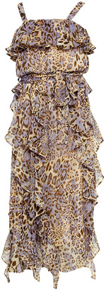 Bardot Junior Rumi Animal-Print Sleeveless Ruffle Dress, Size 7-16