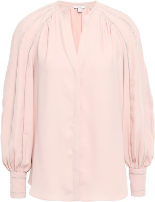 Joie Aban Gathered Crepe De Chine Blouse