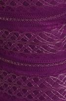 GUESS Metallic Lace Knit Sheath Dress