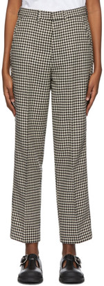 Ami Alexandre Mattiussi Black and White Tweed Trousers