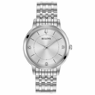 Bulova Women's Diamonds Quartz Watch with Stainless-Steel Strap