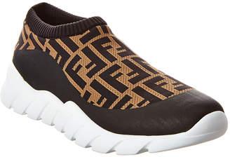 Fendi Low Top Tech Fabric Slip-On Sneaker