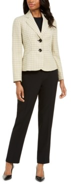 Le Suit Petite Two-Button Notched-Collar Pant Suit