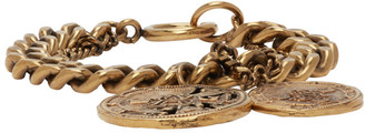 Acne Studios Gold Coin Charm Bracelet