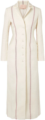 Brock Collection Carolyn Frayed Striped Linen Coat