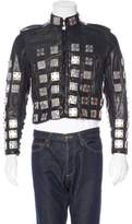 Burberry Embellished Leather Jacket