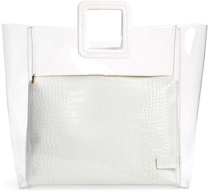STAUD Large Shirley Transparent Handbag