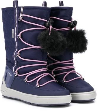 Geox Kids Pompom Detail Snow Boots