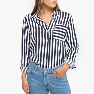 Only Striped Shirt with Long Sleeves and Pocket