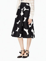 Kate Spade Blot dot midi skirt