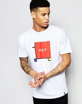 Huf T-shirt With Primary Box Logo