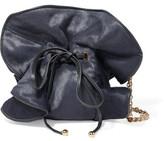Nina Ricci Leather-Trimmed Calf Hair Shoulder Bag