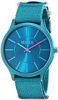 Versus By Versace Women's SO6010013 Less Teal Stainless Steel Watch with Canvas Band