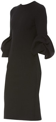 Carolina Herrera Peplum Sleeve Dress