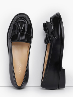 Talbots Laura Kiltie Tasseled Loafers - Classic Leather