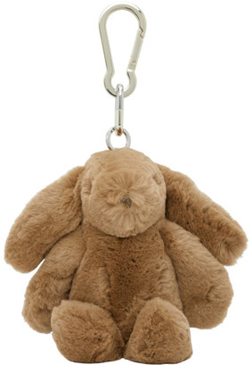 Yves Salomon Brown Fur Keychain