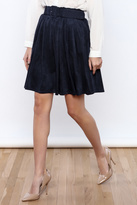 Double Zero Belted Suedette Skirt