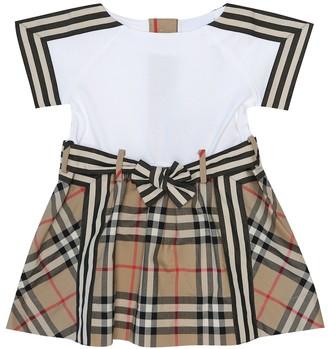 BURBERRY KIDS Baby Vintage Check cotton dress
