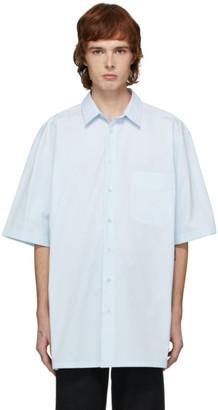 Raf Simons Blue Logo Big Fit Short Sleeve Shirt