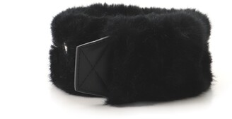 GIVENCHY Logo Shoulder Strap Faux Fur