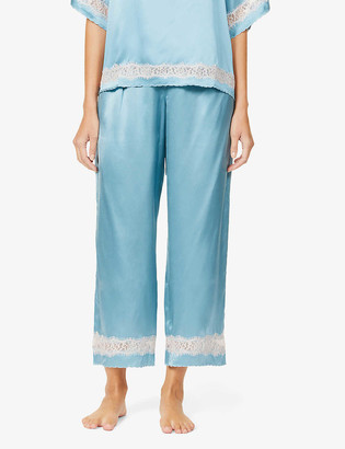 Nk Imode Poppy Retro mid-rise silk-satin and lace trousers