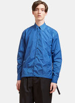 Marni Men's Lightweight Technical Coach Shirt Jacket In Blue