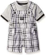 Calvin Klein Baby-Boys Interlock Top with Woven Shortall