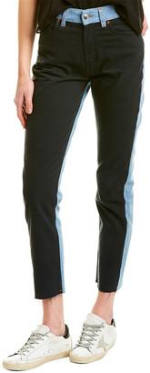 IRO Reverent Black & Blue High-Rise Straight Leg