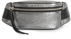 AllSaints Miki Metallic Leather Belt Bag