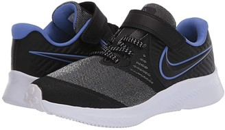 Nike Kids Star Runner 2 Glitter (Little Kid) (Black/Black/Sapphire/Lemon Venom) Kids Shoes