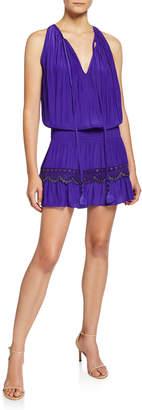 Ramy Brook Kai Sleeveless Grommet Mini Dress
