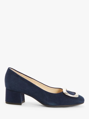 Peter Kaiser Pauline Suede Buckle Court Shoes, Navy