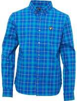 Lyle & Scott Junior Boys Check Flannel Shirt Dark Blue
