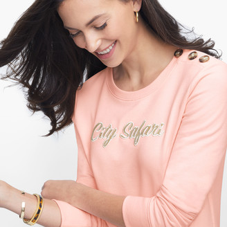 "Talbots Button Shoulder ""City Safari"" Sweatshirt"