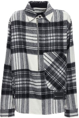 we11done Check Wool Anorak Shirt